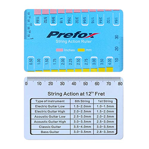 String Action Ruler Gauge,Guitar Set Up Tool for Electric Bass and Acoustic Guitar