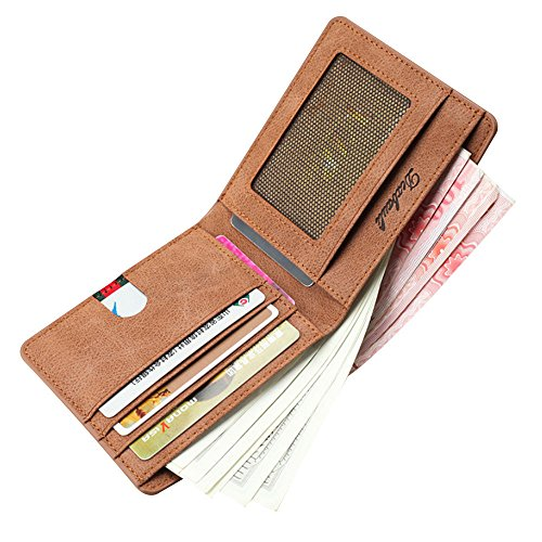 GzxtLTX Bifold Wallet PU Leather Credit Card Holder for Men by GzxtLTX Bags (Image #1)