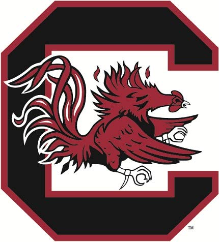 5 inch USC Cocky Logo Decal University of South Carolina Gamecocks SC Removable Wall Sticker Art NCAA Home Room Decor 4 1/2 by 5 inches