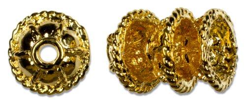 Cousin Gold Elegance 14K Gold Plate Filigree Bead Cap, 3-Piece, (14k Gold Plate Bead)