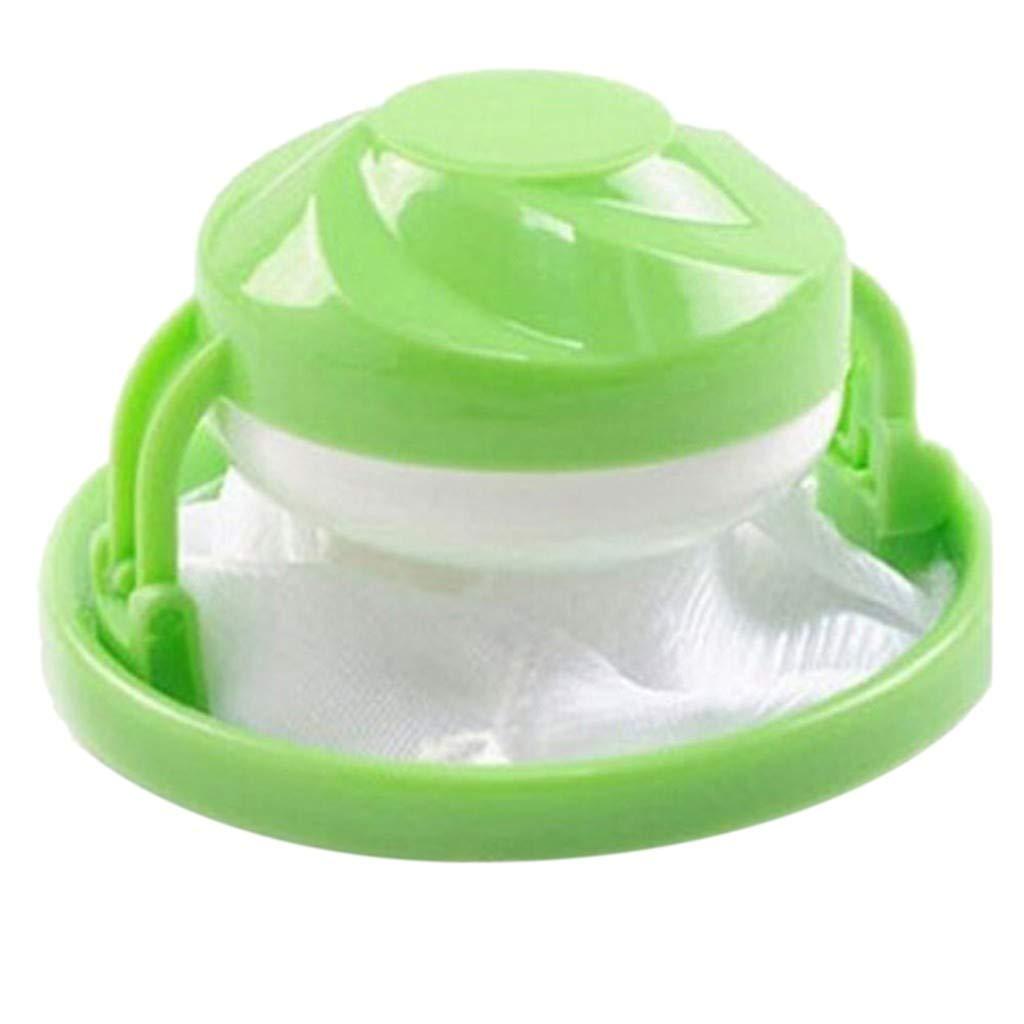 Hongxin 2pcs Machine Laundry Filter Bag,Home Floating Lint Hair Catcher Mesh Pouch Washing (Green)