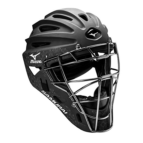 Mizuno Samurai Women's Fastpitch Softball Catcher's Helmet, Size 6 1/2-7 1/4, Black ()