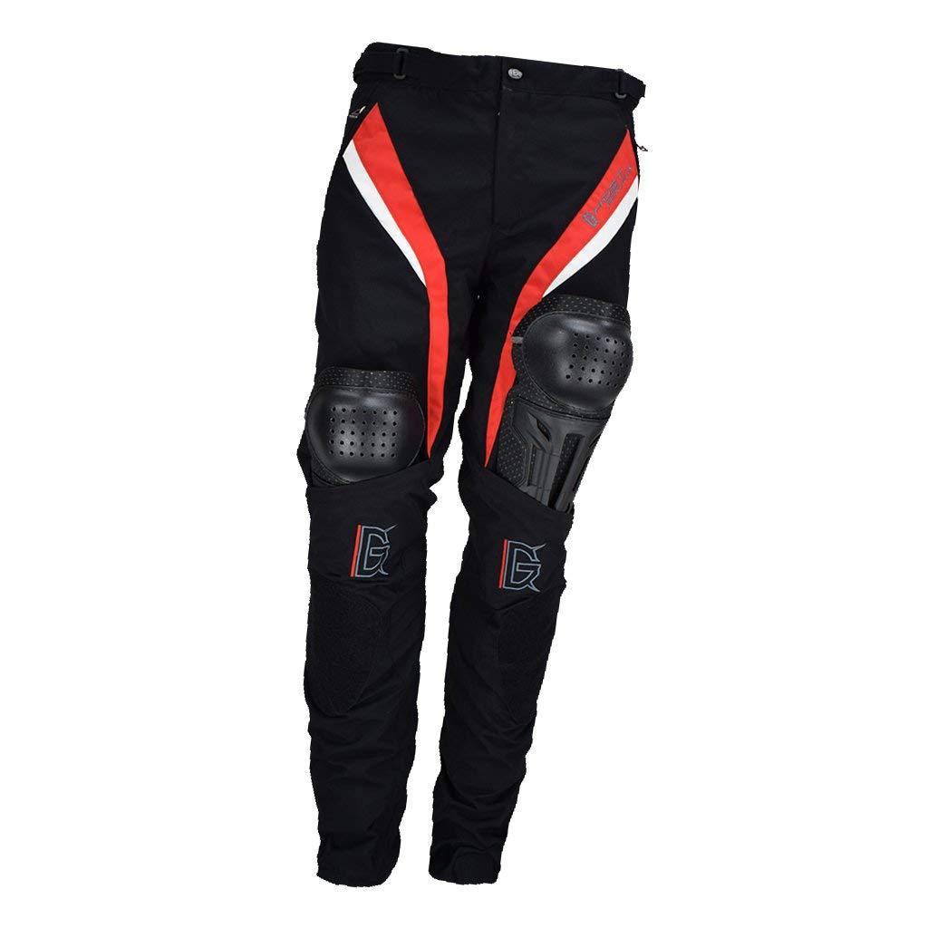 Tubayia Herren Motorrad Reithose Atmungsaktiv Motorradhose mit H/üfte und Knie Protektoren M