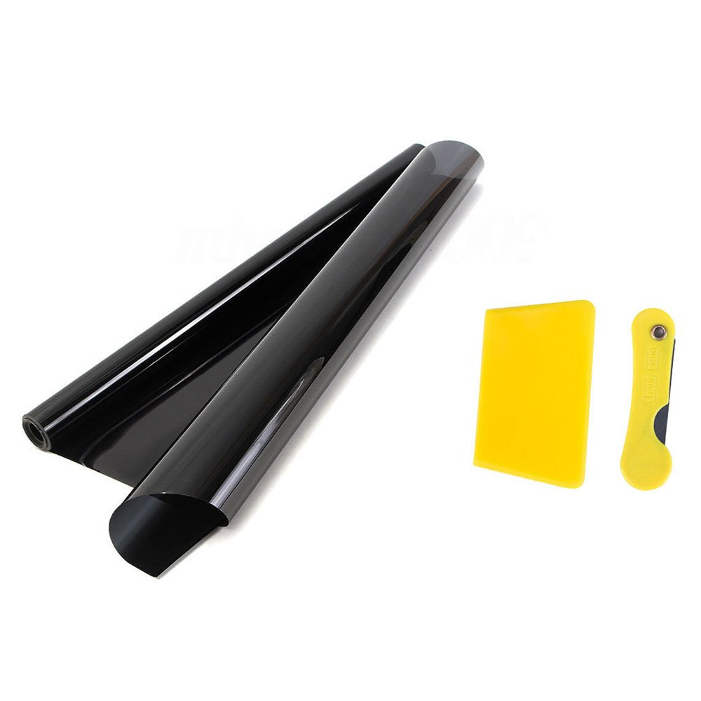 HOTSYSTEM Tint Film Uncut Roll for Car Window Taillight Home Office Glass (5% VLT, 20inches x 20feet, Dark Black) 4350474231