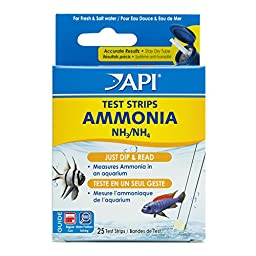 API AMMONIA TEST STRIPS Aquarium Water Test Strips 25-count