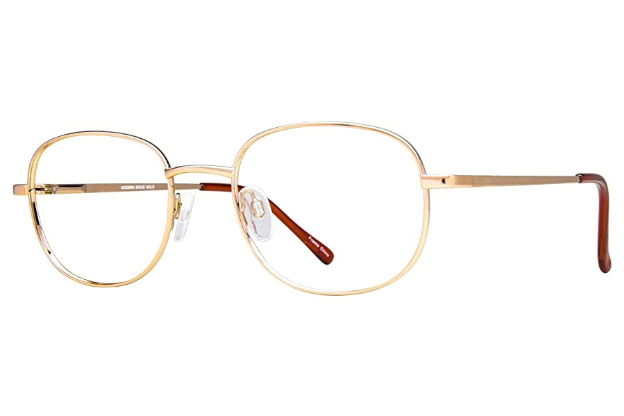 Amazon.com: Arlington Eyewear AR1011 Mens Eyeglass Frames - Gold ...