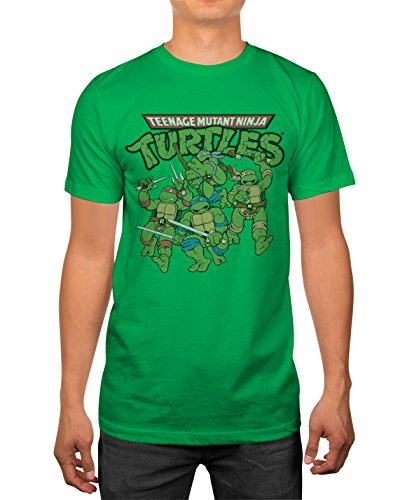 Official TMNT Teenage Mutant Ninja Turtles Men's Green T-shirt