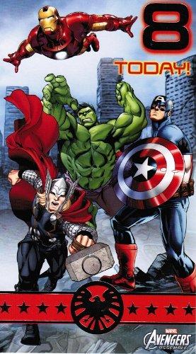 montar de Los Vengadores de Marvel cumpleaños con texto en ...