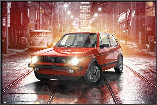 Vw Golf Gti - The Original - Framed Poster / Print Volkswagen By Stop