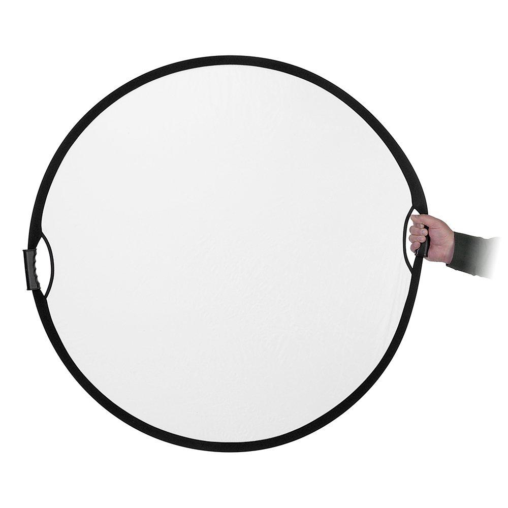 Fotodiox Pro 5-in-1 Reflector 32in 80cm Premium Grade Collapsible Disc Silver//Gold//Black//White//Diffuser