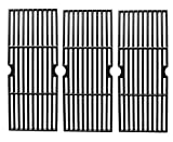Hongso PCH763 Cast Iron Cooking Grid Replacement for Select Gas Grill Models by Charbroil, Kenmore and Others, Set of 3