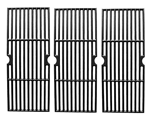 Hongso PCH763 Cast Iron Cooking Grid Replacement for Select Gas Grill Models by Charbroil, Kenmore and Others, Set of ()