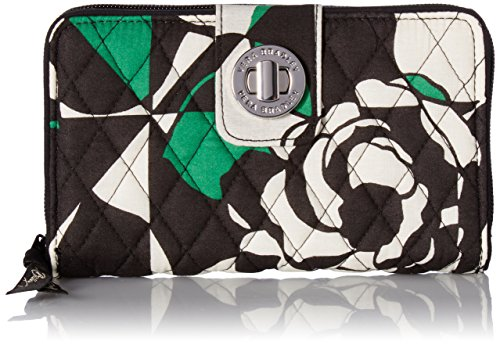 (Vera Bradley Women's Turnlock Wallet, Imperial Rose One Size)