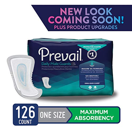 Prevail Pull (Prevail Maximum Absorbency Incontinence Male Guards, One Size, 14-Count (Pack of 9))