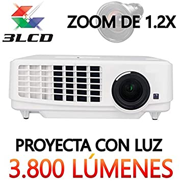 Proyector Full HD 1080P, LUXIMAGEN HD900, Maxima luminosidad 3.800 ...