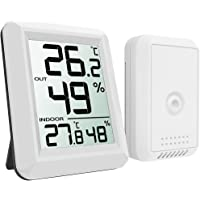 Refrigerator Thermometer, Wireless Indoor Outdoor Digital Freezer Thermometer, Sensor Temperature Monitor with Audible…