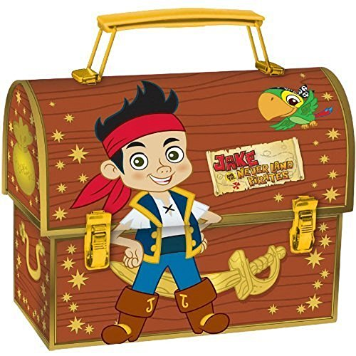 Jake and the Neverland Pirates Rounded Rectangular Tin Pencil Case - Brown -