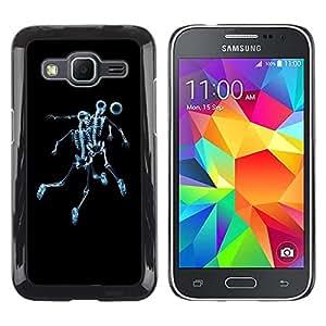Be Good Phone Accessory // Dura Cáscara cubierta Protectora Caso Carcasa Funda de Protección para Samsung Galaxy Core Prime SM-G360 // Skeleton Skull Soccer