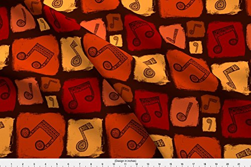 Spoonflower Abstract Fabric Tribal Music by Sonyara Printed on Lightweight Cotton Twill Fabric by the Yard from Spoonflower