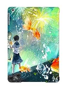 Ipad Air Cover Case Design - Eco-friendly Packaging(schoolgirl Wathing The Fireworks)