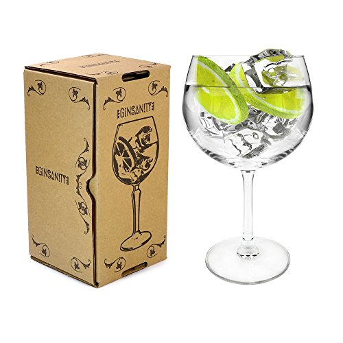 Arcoroc Juniper Thin Stemmed 'Copa de Balon' Gin Glass - 670ml Gin & Tonic/Wine Balloon Glass/Cocktail ()