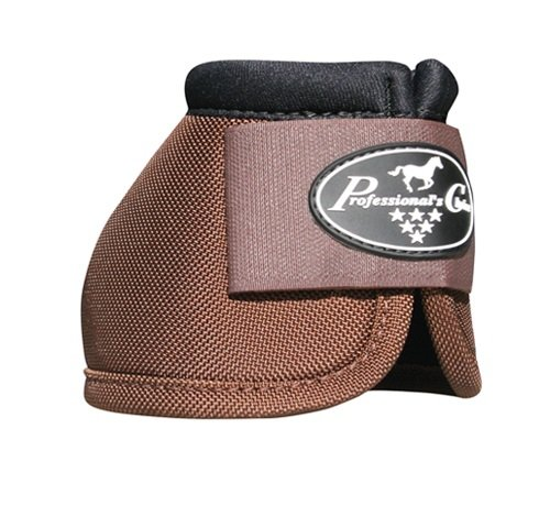 Professionals Choice Equine Ballistic Hoof Overreach Bell Boot, Pair (X-Large, Chocolate Brown)