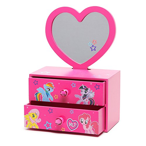 My Little Pony 2-in-1 Jewelry Box with Removable Mirror]()