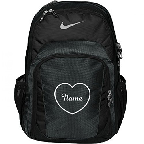 Custom Name/Initials Inside Heart Back To School Bag: Nike Performance Backpack by Customized Girl