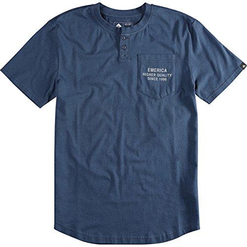 EMERICA T-Shirt STANDARD STAMP PO HENLEY, dark navy S