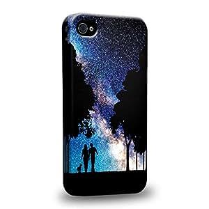Case88 Premium Designs Art Dreamscapes Silhouettes Together Carcasa/Funda dura para el Apple iPhone 4 4s