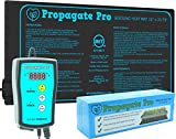 Propagate Pro Seedling Heating Mat | Fits (1) Standard 1020 Tray | Germination Grow Heat Pad for Seed & Starter Plants Soil Warmer for Indoor Home Gardening (10x20 Single + Heating Thermostat)