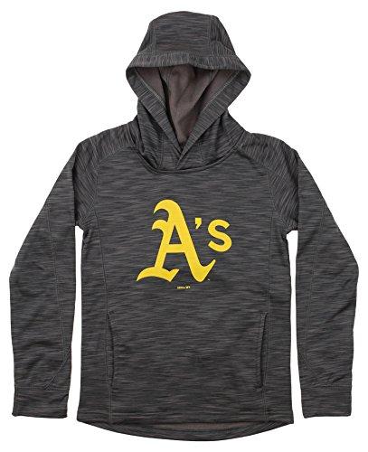 - Outerstuff MLB Youth's Performance Fleece Primary Logo Hoodie, Oakland Athletics Medium (10-12)