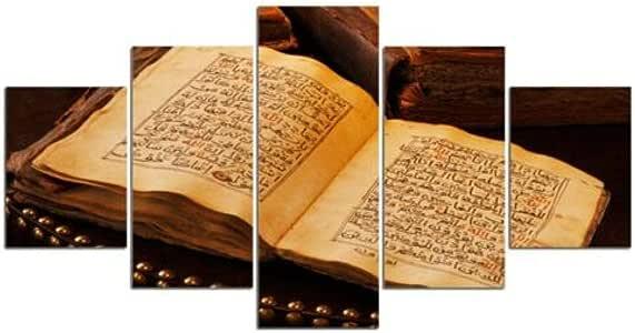 104Tdfc Religión Libro Sagrado Antiguo Cuadro en Lienzo
