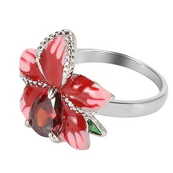 Amazon com: Goddesslili Ruby Diamond Rings for Women Ladies
