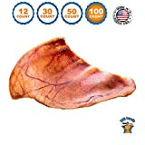 123 Treats Large Pig Ears for Dogs | Quality Pork Dog Chews 100% Natural Pork Ears Full of Protein for Your Pet (USA, 100 Count)