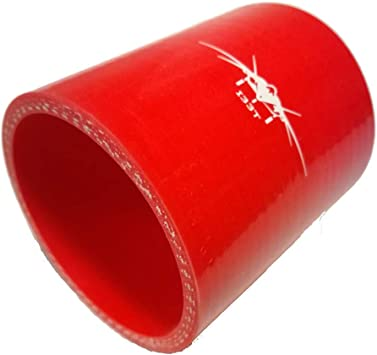 """3.5/"""" Silicone Intercooler Pipe Straight Coupler RED T-Bolt Clamp For Volkswagen"""