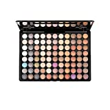 warm color palette ELLITE Styles Professional 88 Metal Shimmer Color Eyeshadow Palette-Warm