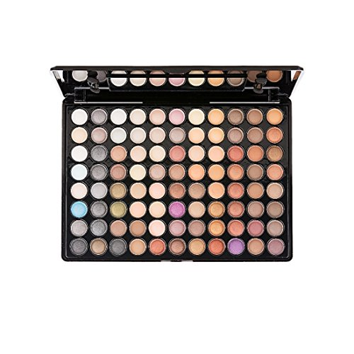 (ELLITE Styles Professional 88 Metal Shimmer Color Eyeshadow Palette-Warm)