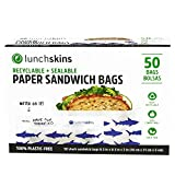 shark party favor box - Lunchskins Recyclable + Sealable Paper Sandwich & Snack Bags, Shark, 50 Ct