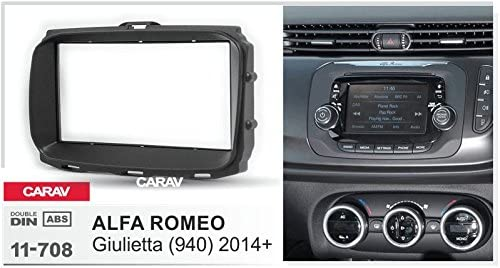 with 17398mm//173100mm//178102mm 2014 940 Double Din in Dash Car Stereo Installation Kit Car Radio Stereo CD Player Dash Install Kit Compatible ALFA Romeo Giulietta