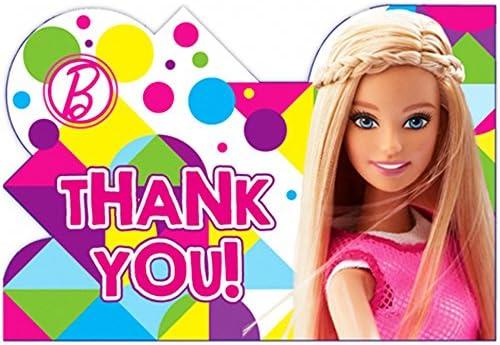Barbie 'Sparkle' Thank You Notes w/ Env. (8ct)
