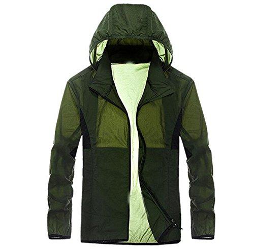 A Contro Upf30 Pelle Vento Maschile Giacca Essiccazione Sottile Green Outdoor wE5xB0qZ