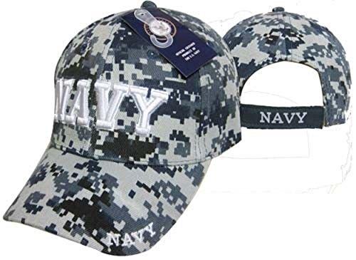 Infinity Superstore U.S Navy NWU Camo Camoflauge Cap 3D Embroidered Licensed Hat 401C