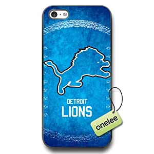 MEIMEINFL Detroit Lions Team Logo ipod touch 4 Black Rubber(TPU) Soft Case Cover - BlackLINMM58281