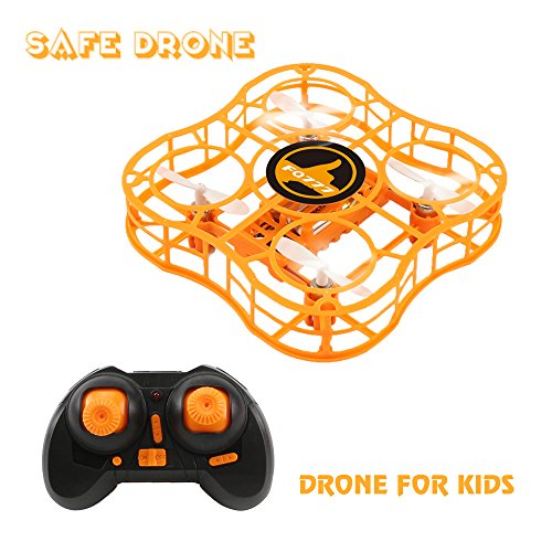 Drone for Kids Mini Safe RC Quadcopter with CF Headless Mode, Full Protection, 360 3D Flip, 4 CH 6 axis GYRO, Nano Helicopter FQ777 FQ03 CKCRC RTF Ideal Gift For Beginner Children - (orange) - Rtf Mini Rc Helicopter