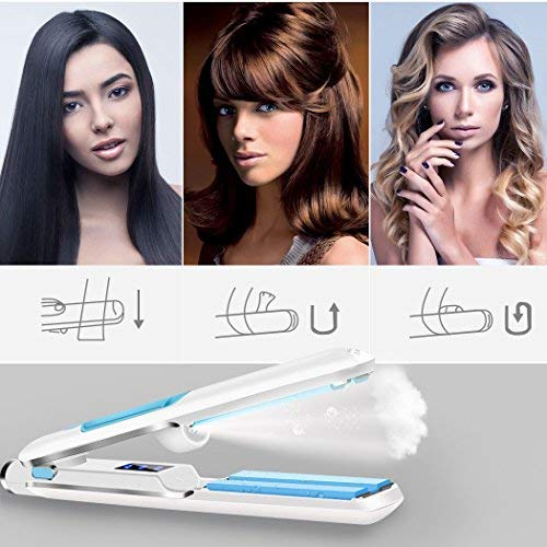 Steam Hair Straightener Flat Iron, inkint 1.2 Inch Professional Hair Iron Ionic Ceramic Straightening Iron for All Hair Types with Adjustable Temperature Dual Voltage