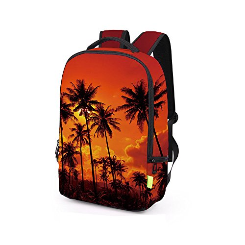 School Bag,Han Shi Women Men 3D Galaxy Travel Satchel Stylish Unisex Canvas Book Bag Shoulder Schoolbags (H, Large)