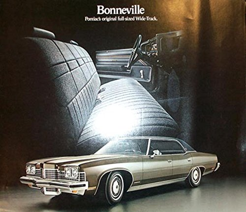 1973 Pontiac Bonneville Sales Brochure Literature Book Advertisement Options