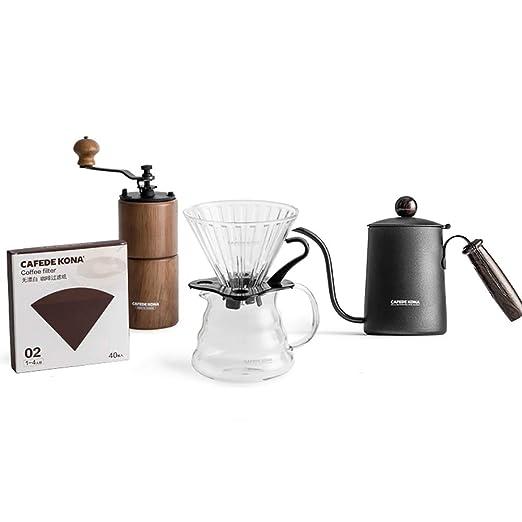 He-art Juego preparación café para Verter con Filtro Papel Goteo ...