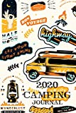 img - for 2020 Camping Journal: Travel Camping Journal 2020 Monthly Calendar RV Trailer Campsites Campgrounds Logbook Record Your Family Kids Adventures Log ... Camper Journey Prompts for Writing Gift Idea book / textbook / text book